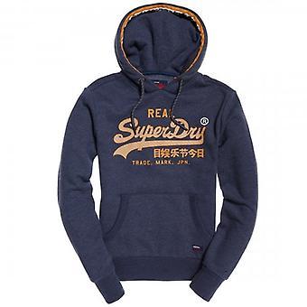 Superdry Vintage Logo Racer Hoody Blue Marl BCY