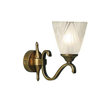 Columbia 1-light Wall Sconce, Antique Brass And Frosted Glass