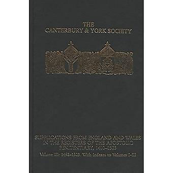 Supplications from England and Wales in the Registers of the Apostolic Penitentiary, 1410-1503: Volume III: 1492...
