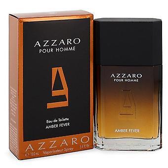 Azzaro fièvre ambre vaporisateur d'Eau De Toilette par Azzaro 3.4 oz Eau De Toilette vaporisateur
