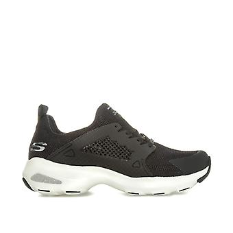Women's Skechers D'Lites Ultra At The Top Trainers in Black
