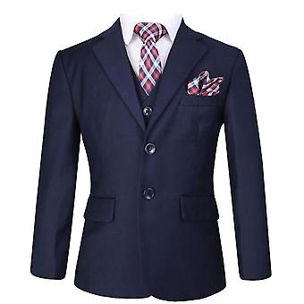 Boys Navy Blue Formal Complete Set Suit