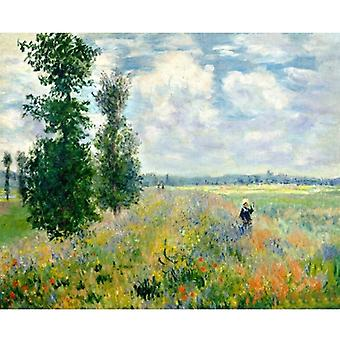 Hand Painted Oil Painting Frame Picture Field Landscape