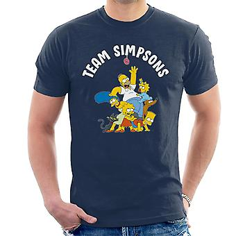 The Simpsons Family Team Men's T-Shirt