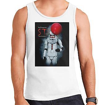 Alkuperäinen Stormtrooper St Clown parodia kevyille miehille ' s Vest