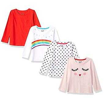 Brand - Spotted Zebra Girls' Toddler 4-Pack Long-Sleeve T-Shirts, Rain...