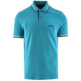 BOSS Aqua Paul Curved Polo Shirt