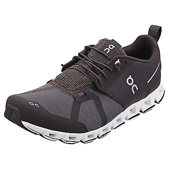 On Running Cloud Terry Mens Running Trainers in Pebble
