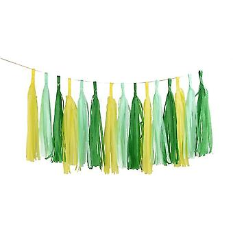 Diy Tissue Paper Tassel Garland For Wedding, Kids Unicorn Birthday Party