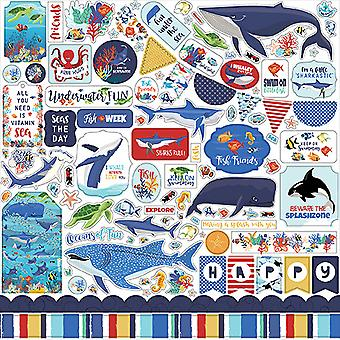 Carta Bella Fish Are Friends 12x12 Inch Element Sticker