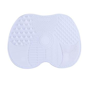 Silicon Makeup Brush Cleaner Pad White