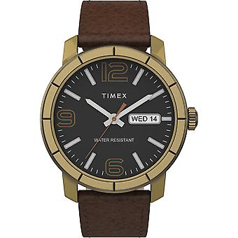 Timex Tw2T72700 Men'S Mod44 44Mm Brown Leather Strap Watch