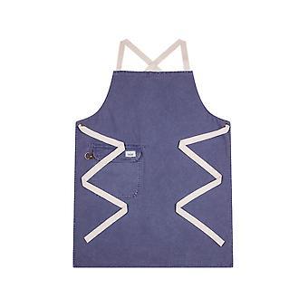 Chorlton denim bib apron - lavender