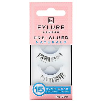 Eylure Naturals Pre Glued Black False Lashes - 003 - Accent Style Falsies