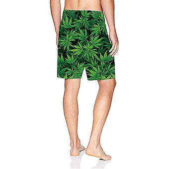 Mesh Liner Board Shorts for Men Funny Marijuana Graphics Swim Trunks 80s Yout...
