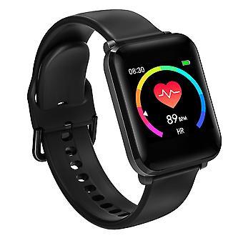 Monitor de presión arterial de frecuencia cardíaca de cuidado de la salud impermeable (negro)