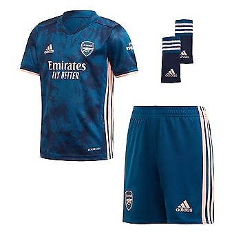 adidas Arsenal 2020/21 Junior Kids Football Third Mini Kit Blue/Pink