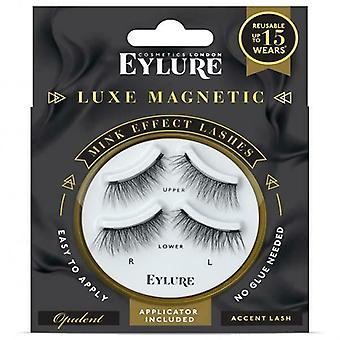 Eylure Luxe Magnetic Faux Mink Black Lashes - Opulent Accent - Adhesive Included