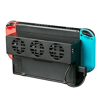 Cooling Fan For Nintendo Switch Ns Stand Game Console Dock Cooler With 3-fan Usb Cooling Fan Nx (black)