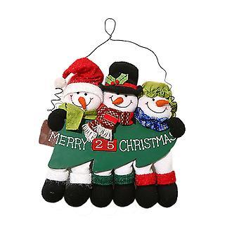 Décoration de bonhomme de neige d'ornement de pendaison de mur de Noël