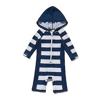 Bonverano Baby Boys UPF 50+ Sun Protection 3/4 Sleeves Zipper Hooded Swimsuit