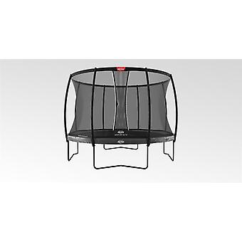 berg elite regular trampoline 430 14ft grey + safety net dlx xl