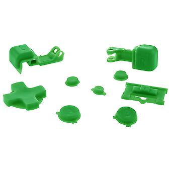 Zedlabz replacement button set for nintendo game boy advance sp gba handheld - green