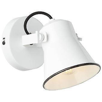 BRILLIANT Lampa Croft Vägg fläck vit   1x D45, E27, 18W, lämplig för drop-lampor (ingår ej)   Skala A++ till E  