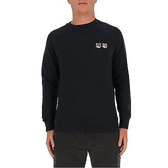 Maison Kitsuné Fm00358km0002an Men's Black Cotton Sweatshirt