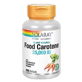 Solaray Food Carotene, 25 000 iu, 200 Softgels