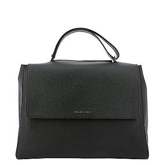 Orciani Bt1979softnero Women's Black Leather Shoulder Bag