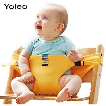 Baby Bärbar Matsal Stol Säkerhetsbälte, Baby Lunch Utfodring Barnstol Sele