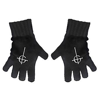 Ghost Gloves Band Logo Cross dance macabre New Official Fingerless Black