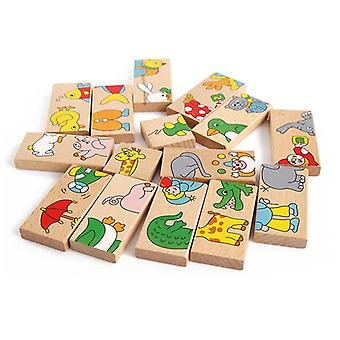 Puinen Domino Animal Learning Building Blocks, Pelit Koulutus