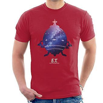 E.T. Nave espacial Galactic Silhouette Men's Camiseta