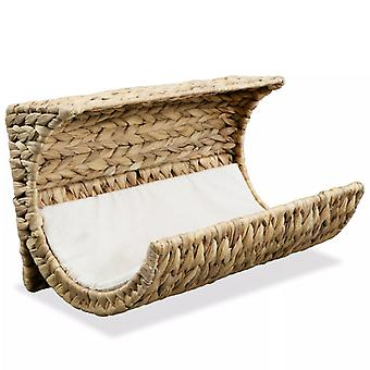 Cat bed with pillow water hyacinth 37 x 20 x 20 cm