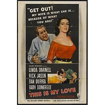 Dies ist meine Liebe Film-Plakat-Druck (27 x 40)