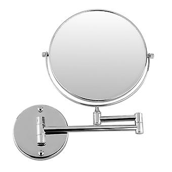 Chrome Round Wall Mirror For Bathroom Makeup