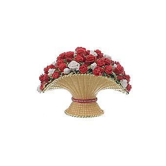 Large Flowers Vase Trinket Box