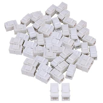 100 Piece Cat6 RJ45 Ethernet Inline Jack Coupler Keystone Latch Femelle à Femme
