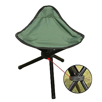 Portable Folding Three-legged Stool Chair Seat For Camping, Picnic Foldable,