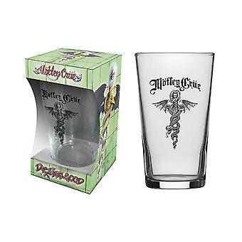 Motley Crue Pint Glass Dr Feelgood Band Logo new Official Boxed