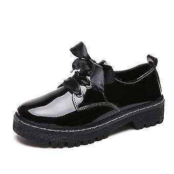 Oxford Schuhe, Leder Damen Schuhe & weibliche Wohnungen Schnürung Casual Schuhe Plus