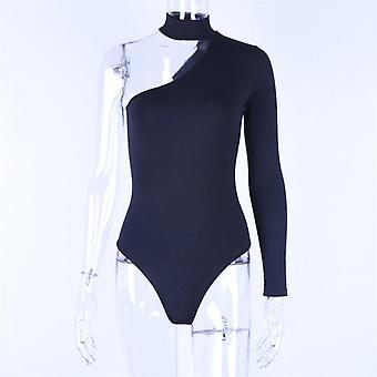 Cotton Halter One Shoulder Sexy Bodysuit Women Fashion