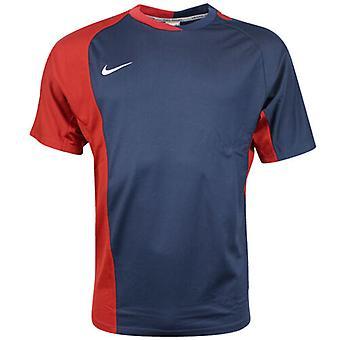 Nike Performance Kurzarm Dri Fit Herren Rugby Top Navy Rot 329302 410 A59E