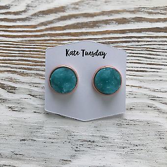Miami Turquoise Druzy Earrings