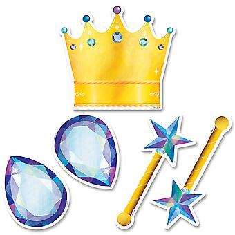 """Coronas mágicas místicas y joyas 6"""" recortes de diseñador, 36/Pack"""