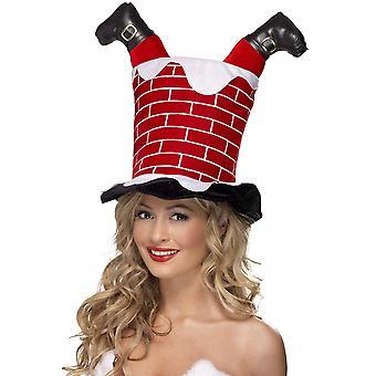 Smiffys santa preso em chapéu de chaminé 1 vermelho