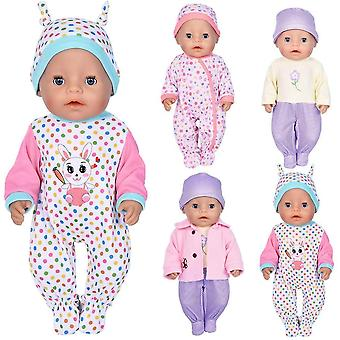 ebuddy 7pc Doll Clothes Include Bodysuit Hat and a Coat for 43cm New Born Baby Dolls