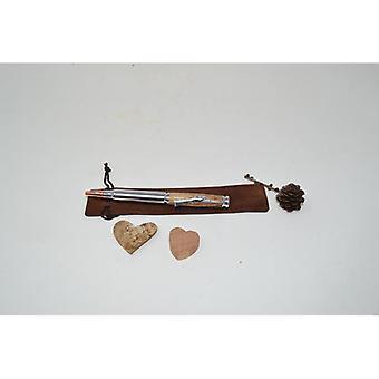 Holz Kugelschreiber aus Holz Drehkugelschreiber Pen twistpen  Eiche Handarbeit Kugelschreiber Geschenk Geschenkidee Unikat Gewehr Jäger hunter